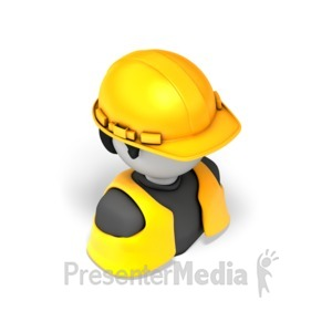 ID# 17581 - Construction Worker - Presentation Clipart