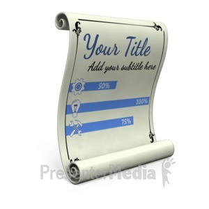 ID# 17603 - Custom Paper Scroll - Presentation Clipart