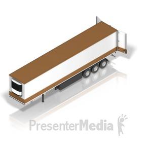 ID# 17608 - Semi Trailer Front - Presentation Clipart