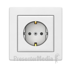 ID# 17635 - European Power Outlet - Presentation Clipart