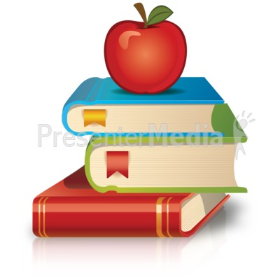 Stack Of Books Apple PowerPoint Clip Art