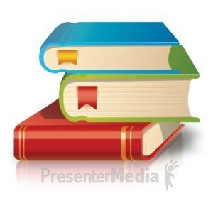 ID# 17647 - School Books Stack - Presentation Clipart