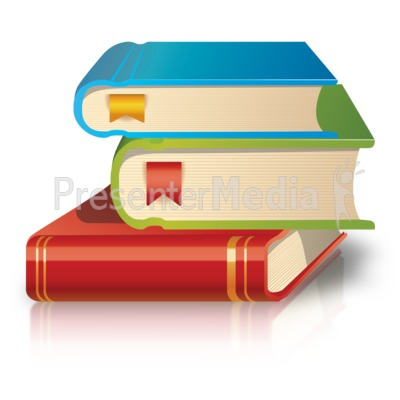 School Books Stack PowerPoint Clip Art
