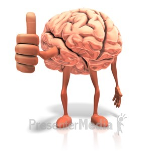 ID# 17650 - Positive Thinking Brain - Presentation Clipart