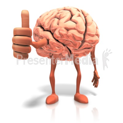 Positive Thinking Brain PowerPoint Clip Art