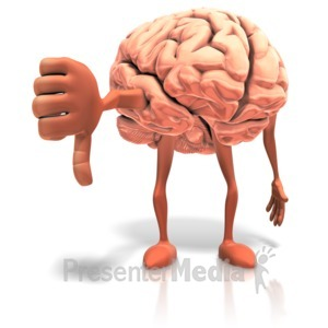 ID# 17651 - Negitive Thinking Brain - Presentation Clipart