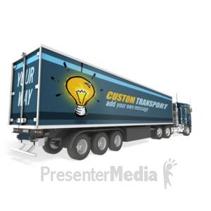 ID# 17659 - Semi Truck Custom - Presentation Clipart