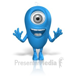 ID# 17668 - Character Excited Looking Straight Ahead - Presentation Clipart