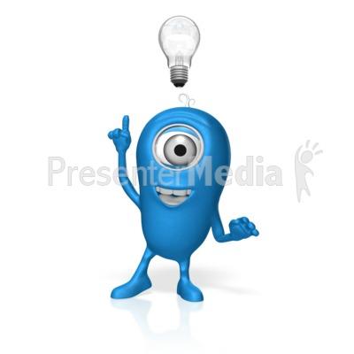 Character Light Bulb Idea PowerPoint Clip Art