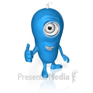ID# 17680 - Character Thumbs Up - Presentation Clipart