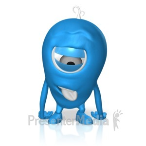 ID# 17682 - Character Exhausted - Presentation Clipart