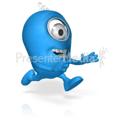 Character Run Reaching PowerPoint Clip Art