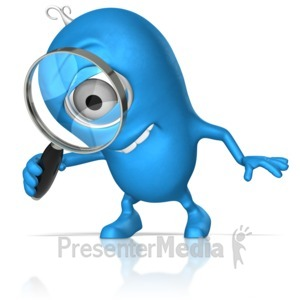 ID# 17698 - Character With Magnify Glass - Presentation Clipart