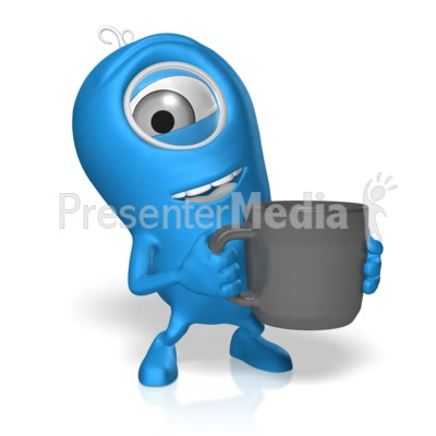 Character With Coffee PowerPoint Clip Art