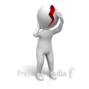 ID# 17704 - Headache Splitting Pain - Presentation Clipart