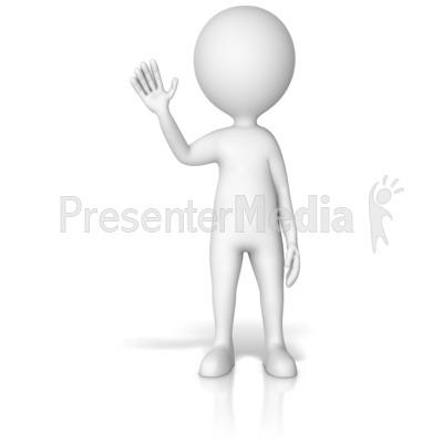 Figure Waving Gesture Pose PowerPoint Clip Art