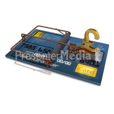 Credit Card Trap Pound PowerPoint Clip Art