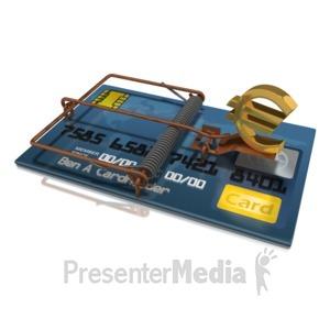 ID# 17737 - Credit Card Trap Euro - Presentation Clipart