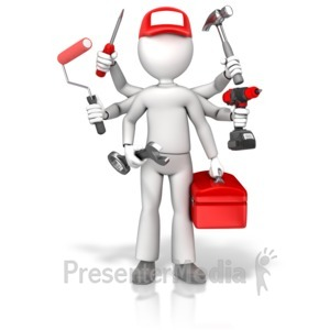 ID# 17776 - Handyman Jack Of All Trades - Presentation Clipart