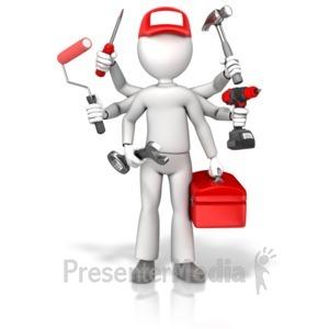ID# 17776 - Handyman Jack Of All Trades - Presentation Clipart