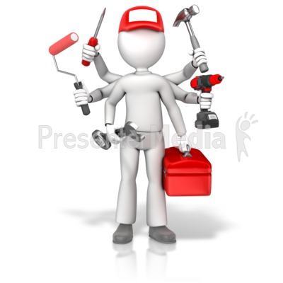 Handyman Jack Of All Trades PowerPoint Clip Art