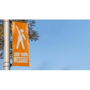 ID# 17782 - Pole Banner Custom - Presentation Clipart