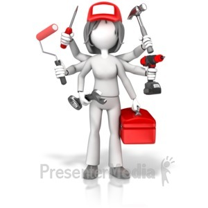 ID# 17789 - Handywoman Jack Of All Trades - Presentation Clipart