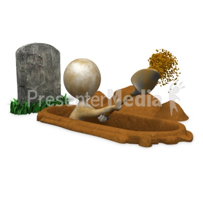 Digging Your Own Grave - Presentation Clipart - Great ...