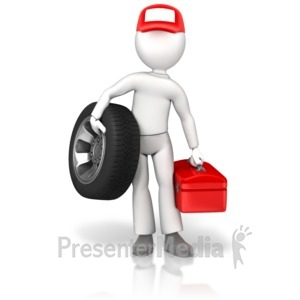 ID# 17810 - Tire Guy Wheel Toolbox - Presentation Clipart