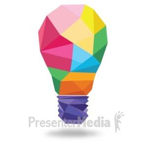ID# 17811 - Light Bulb Shapes - Presentation Clipart