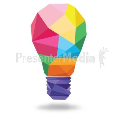 Light Bulb Shapes PowerPoint Clip Art