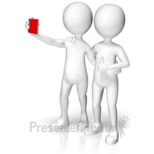 ID# 17824 - Selfie Buddies - Presentation Clipart