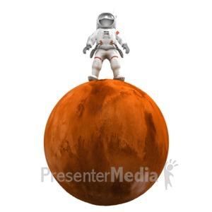 ID# 17837 - Astronaut On Mars - Presentation Clipart