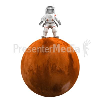 Astronaut On Mars PowerPoint Clip Art