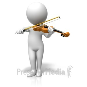 ID# 17838 - Figure Playing Violin - Presentation Clipart