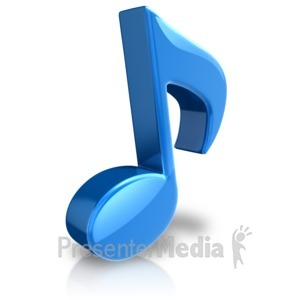 ID# 17845 - Musical Note Large Color - Presentation Clipart