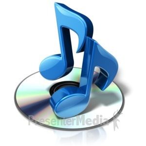 ID# 17846 - Cd Music Notes - Presentation Clipart