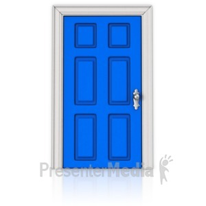 ID# 17849 - A Door that is Closed - Presentation Clipart