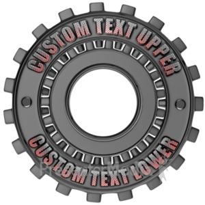 ID# 17868 - Custom Gear Ring - Presentation Clipart