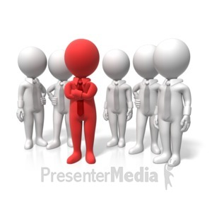 ID# 17905 - Leader Stand Out - Presentation Clipart