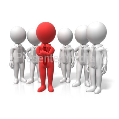 Leader Stand Out PowerPoint Clip Art