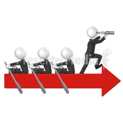 Business Men Row Arrow PowerPoint Clip Art