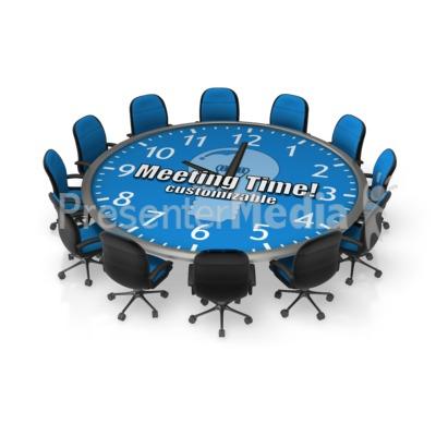 Round Meeting Table Custom Presentation clipart