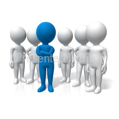 Leader Standing Out PowerPoint Clip Art