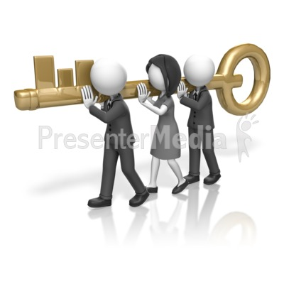 Business People Carry Key - Presentation Clipart - Great Clipart ...
