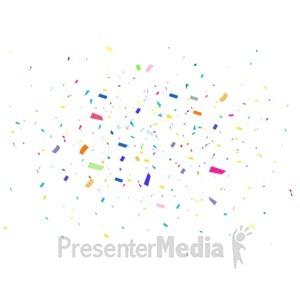 ID# 18013 - Confetti Background Celebrate - Presentation Clipart