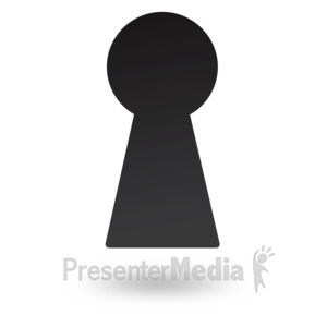 ID# 18040 - Dark Key Hole - Presentation Clipart