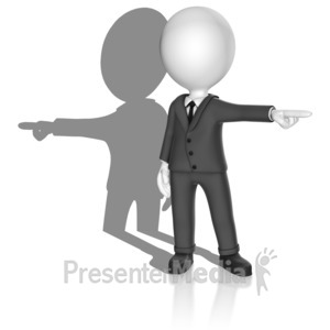 ID# 18073 - Shadow Point Opposite - Presentation Clipart