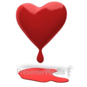 ID# 18098 - Heart Bleeding - Presentation Clipart