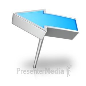 ID# 18099 - Arrow Pin Angled - Presentation Clipart